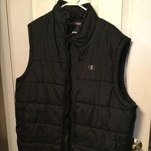 Men's Champions Black Vest Sz Large